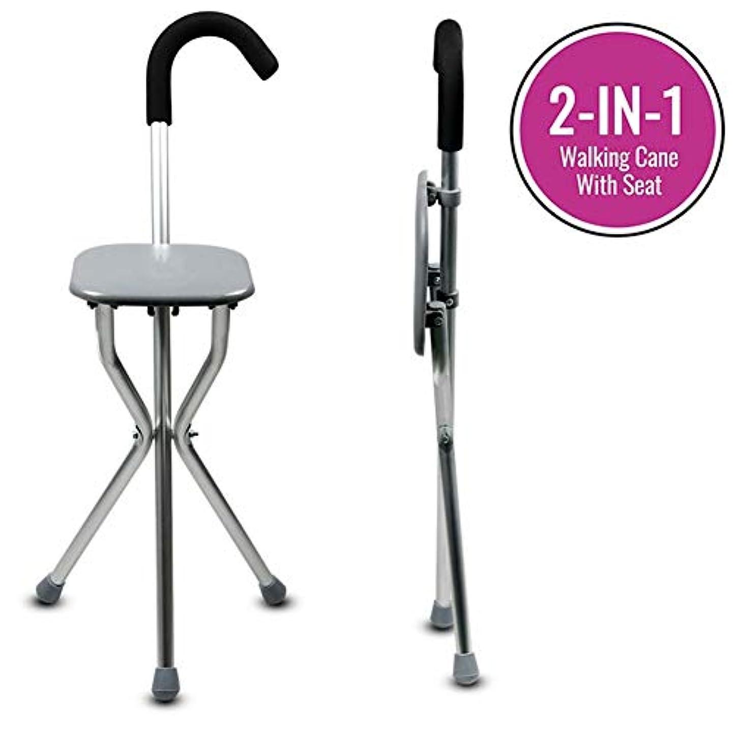上簡略化する質素な旅のイベントのための偉大な杖席マッサージチェア杖の2in1超高負荷容量ウォーキング