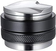 53mm Coffee Distributor & Tamper, MATOW Dual Head Coffee Leveler Fits for 54mm Breville Portafilter, Adjus