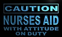 LED看板 ネオンプレート サイン 電飾・店舗看板・標識・サイン カフェ バー ADV PRO m610-b Caution Nurse Aid Neon Light Sign