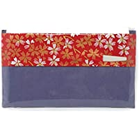 M 友禅紙の袋入 懐紙 楊枝付 柄おまかせ (11番) 紫 茶道具