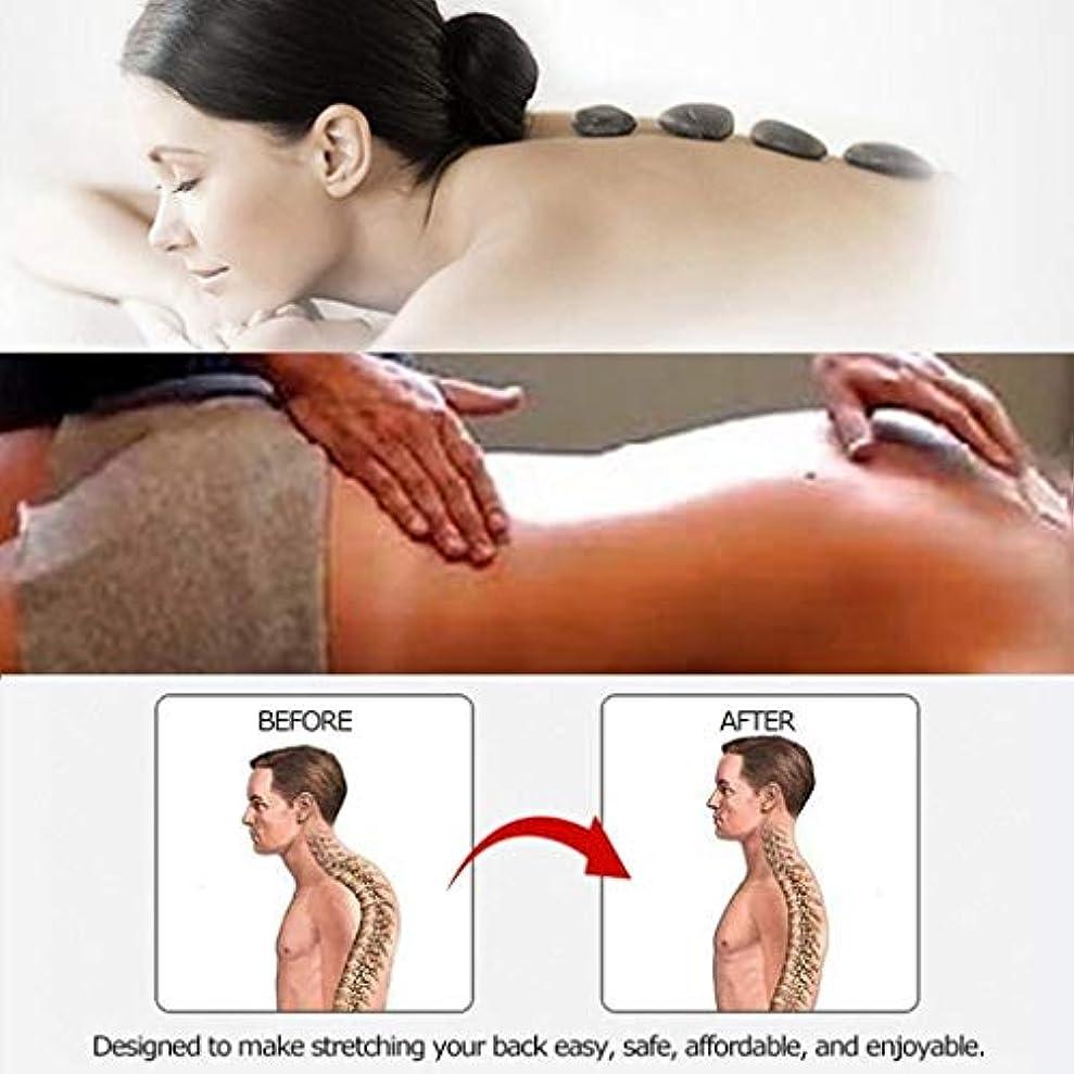 簡単に協力的めるバックランバーサポート、マルチステージバックストレッチングデバイス、背中の痛みを和らげる、筋肉痛の軽減 (Color : E)