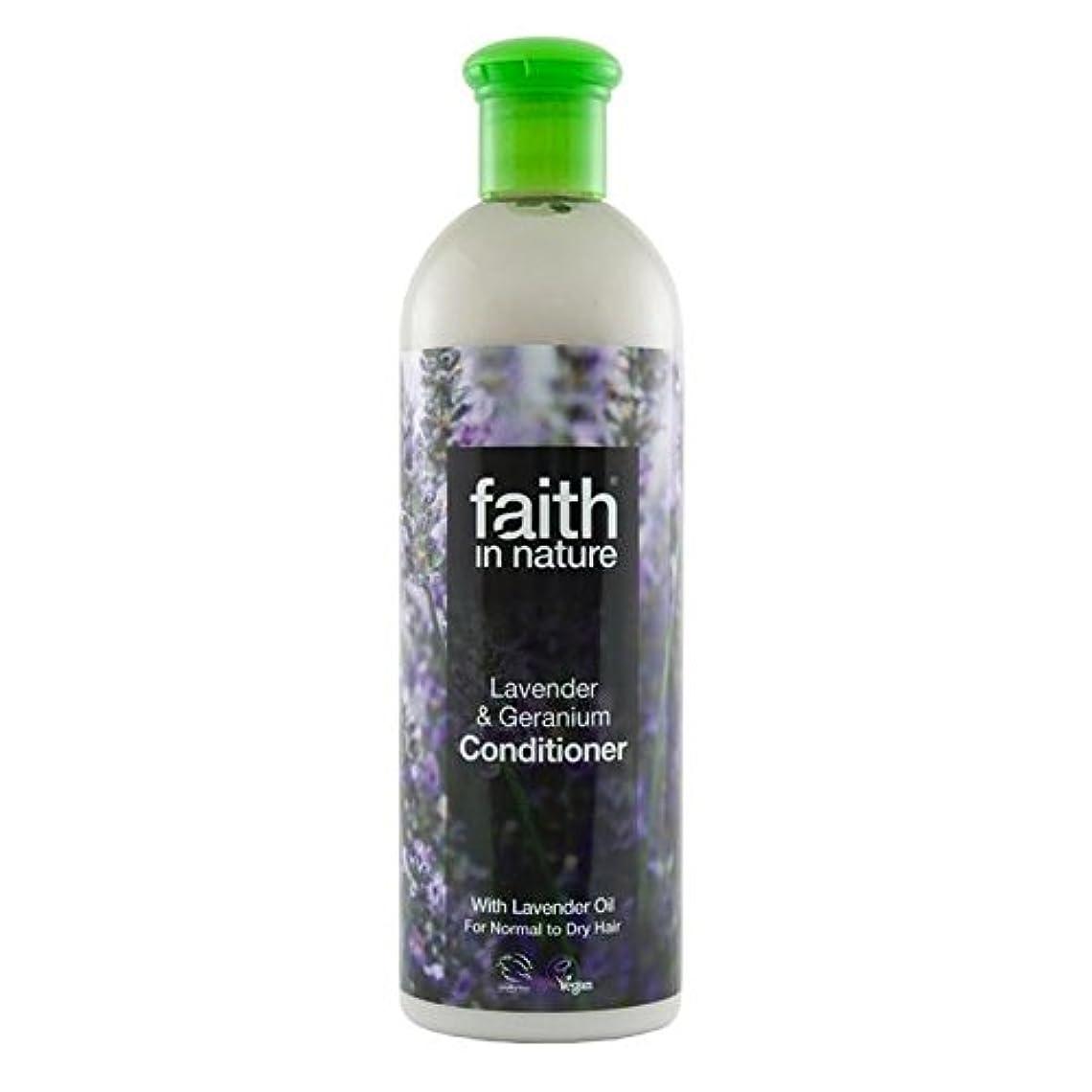 サイトライン散逸ハーネスFaith in Nature Lavender & Geranium Conditioner 400ml (Pack of 6) - (Faith In Nature) 自然ラベンダー&ゼラニウムコンディショナー400...