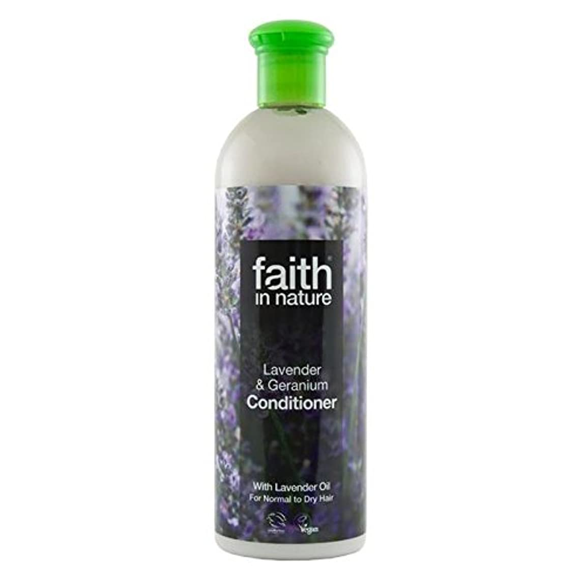 Faith in Nature Lavender & Geranium Conditioner 400ml (Pack of 2) - (Faith In Nature) 自然ラベンダー&ゼラニウムコンディショナー400...