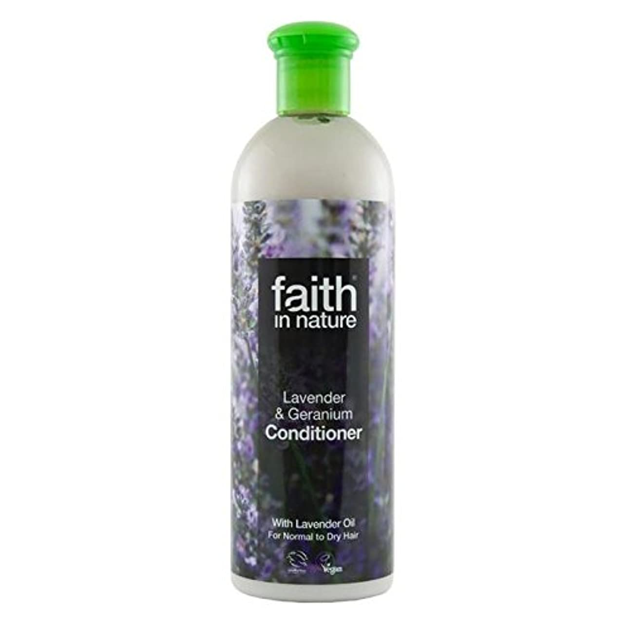 Faith in Nature Lavender & Geranium Conditioner 400ml (Pack of 4) - (Faith In Nature) 自然ラベンダー&ゼラニウムコンディショナー400...