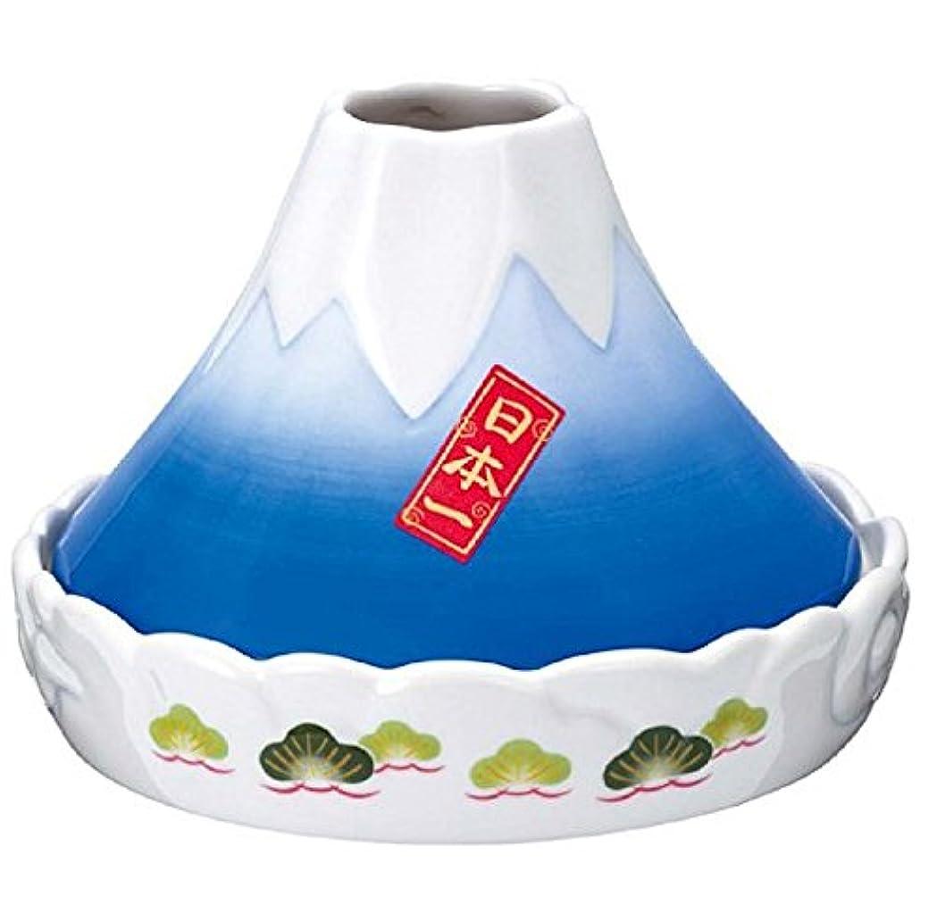 蚊遣器 日本一 富士山蚊遣器 [高さ11cm x 横巾15cm] 蚊取り 陶器