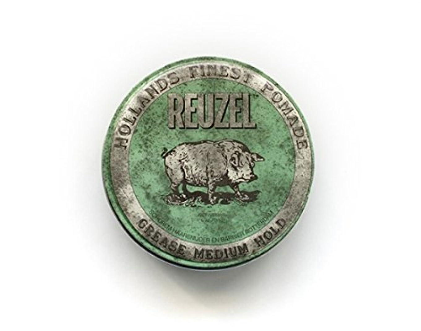 再開スクリーチに渡ってルーゾー グリースポマード ハード 油性 【緑】340g  REUZEL ルーゾーポマード