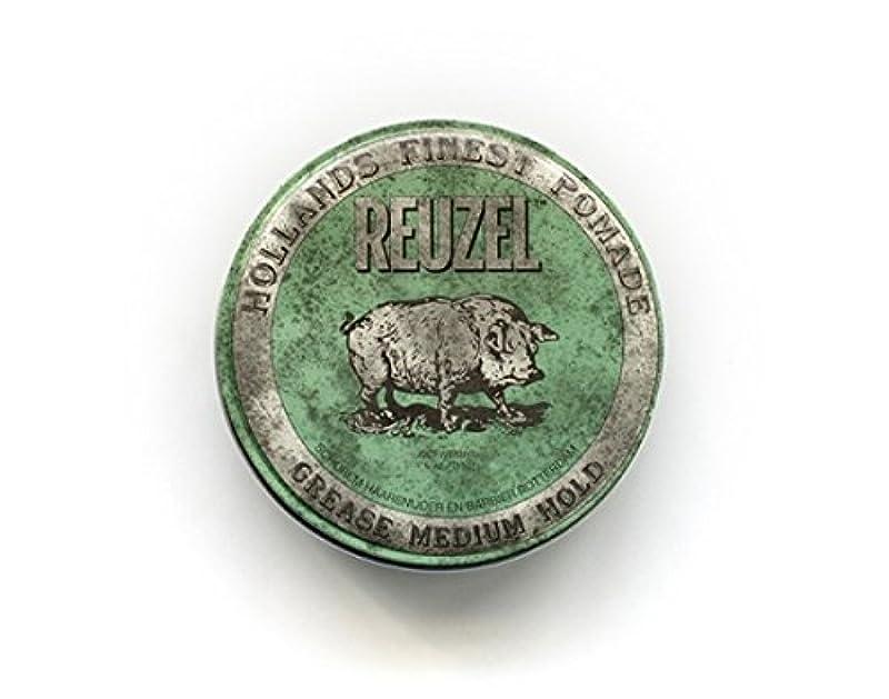 スピーチわずかにウールルーゾー グリースポマード ハード 油性 【緑】340g  REUZEL ルーゾーポマード