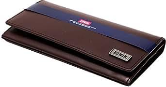 (エドウィン) EDWIN 財布 メンズ 長財布 二つ折り 本革 3color Free ダークブラウン
