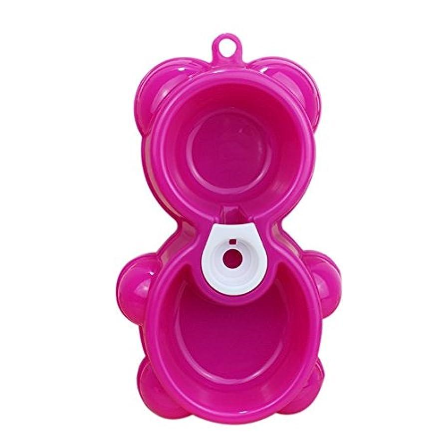 先に大事にする電気のダブルペットボウル自動ウォーターディスペンサーフィーダー用品犬用ボウル猫プラスチック製トレイボウル (ピンク)