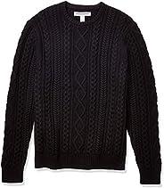 Amazon Essentials (アマゾン エッセンシャルズ) メンズ ミッドウェイト フィッシャーマン セーター