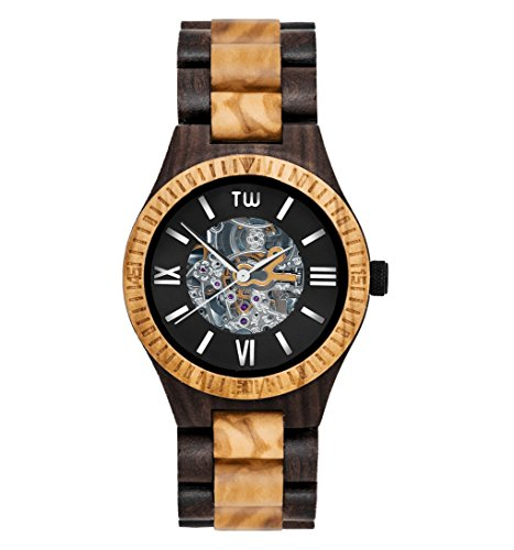 truwood Caliber自動木製腕時計ゼブラウッドとすべての木製バンド
