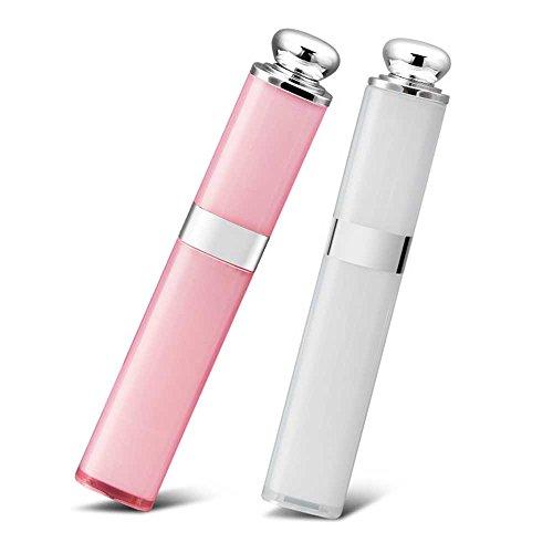 KINSON 自撮り棒 セルカ棒 セルフィースティック Bluetooth無線 シャッターボタン付き 口紅型 ミニサイズ かわいい ワイヤレス iPhone/Android対応(ホワイト(無線))