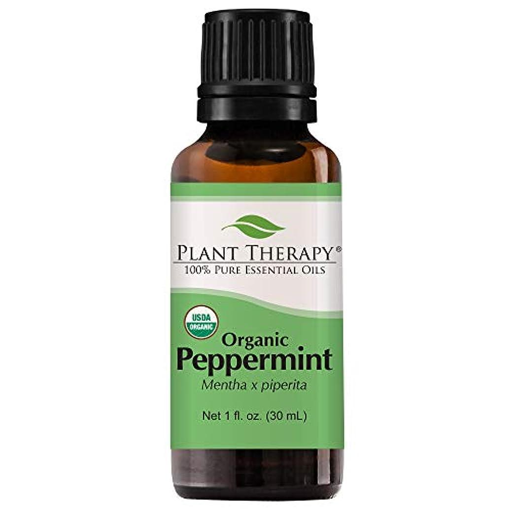 対裁定影植物セラピーUSDA認定オーガニックペパーミントエッセンシャルオイル。 100%ピュア、希釈していない、治療グレード。 30mLの(1オンス)。