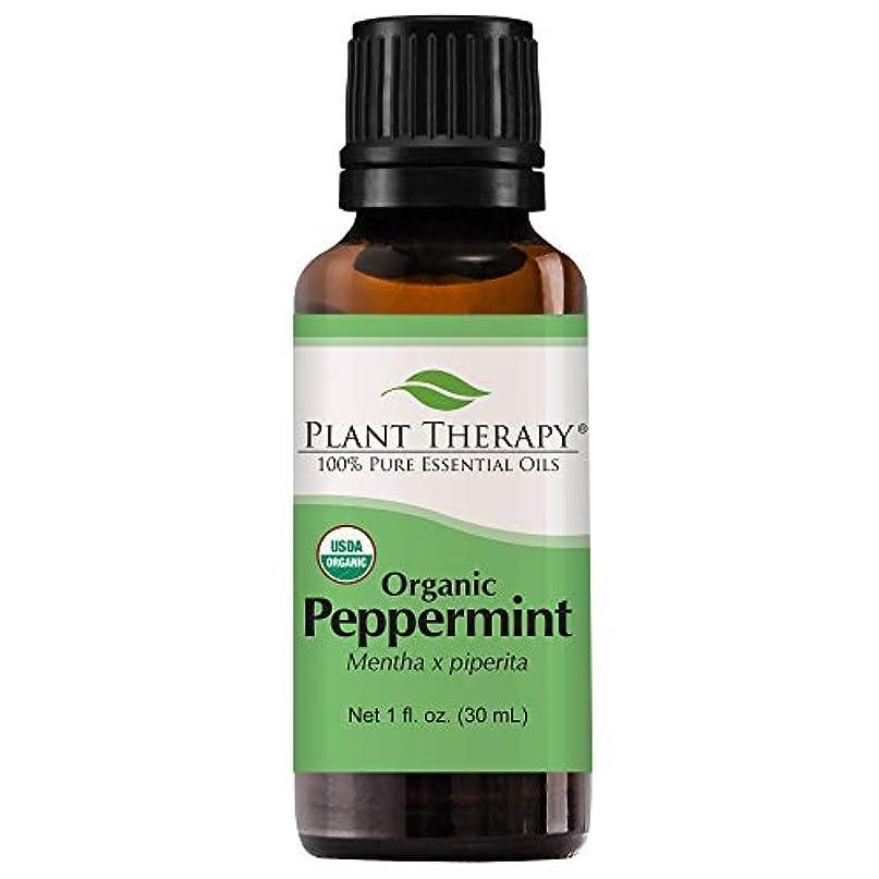 模倣手伝う請求書植物セラピーUSDA認定オーガニックペパーミントエッセンシャルオイル。 100%ピュア、希釈していない、治療グレード。 30mLの(1オンス)。