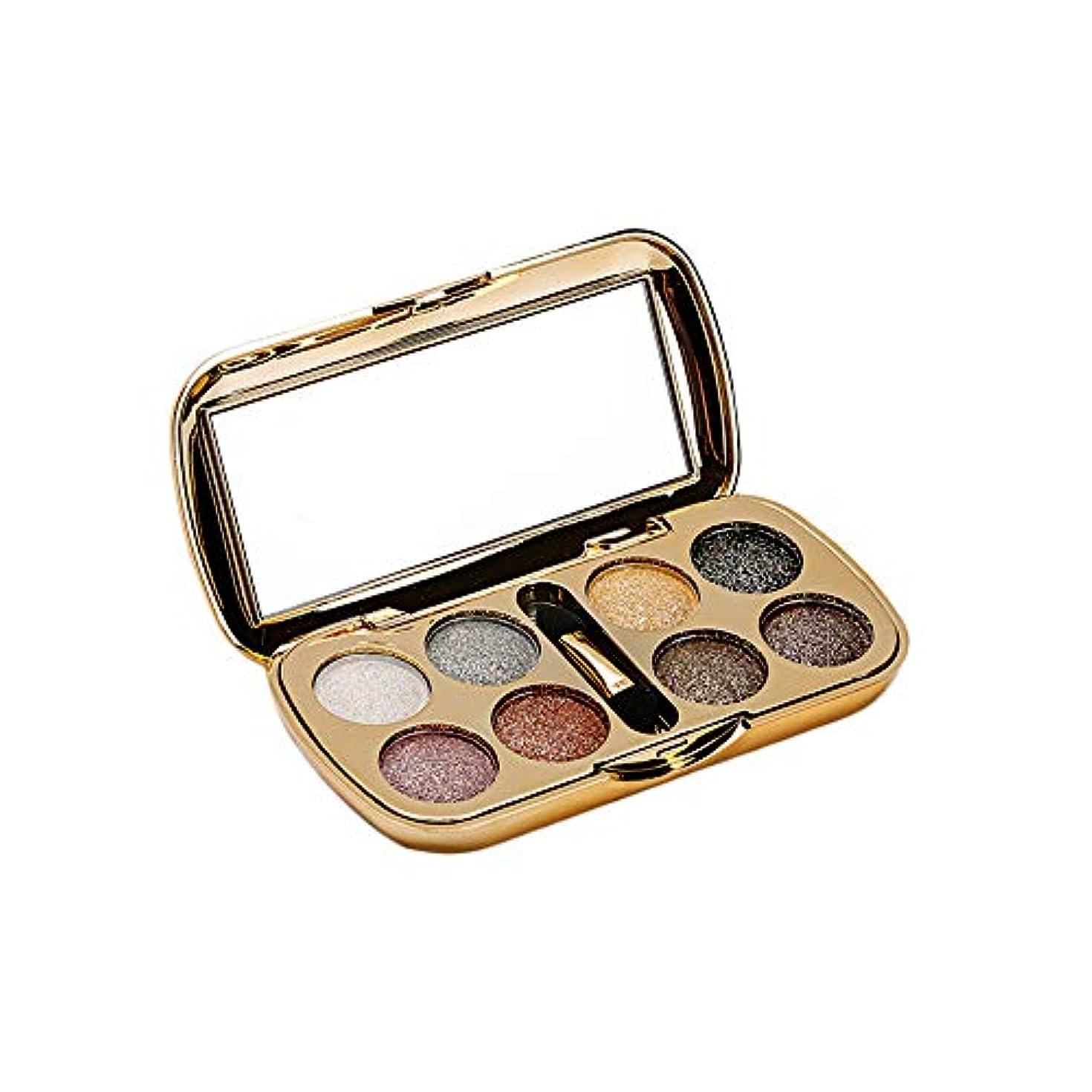 はげ郡マウスAkane アイシャドウパレット Lameila 綺麗 魅力的 ファッション 人気 気質的 キラキラ ダイヤモンド チャーム 防水 長持ち おしゃれ 持ち便利 Eye Shadow (8色) 3551