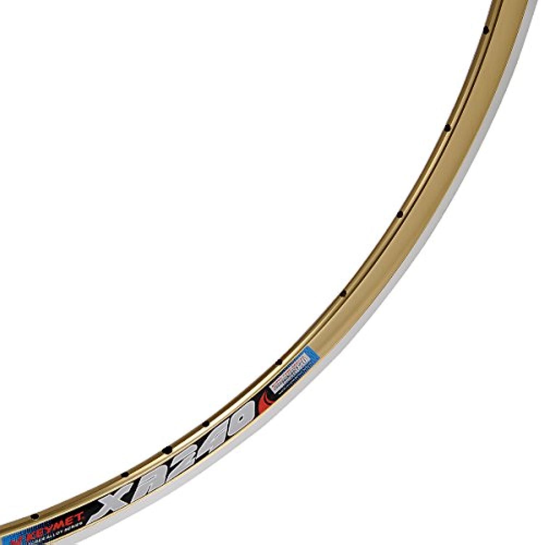 X-KEYMET(エックスキーメット) クリンチャーリム 700c 32H GOLD XR-240