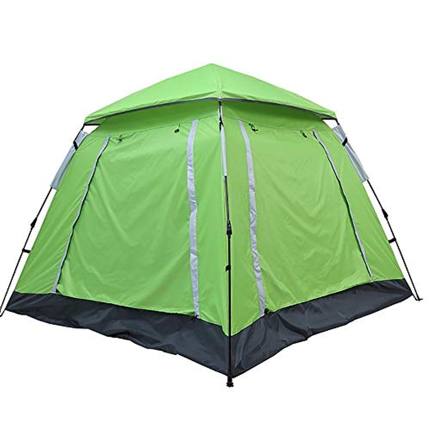 フルーツオープニング辞任キャンプするための自動防水テント4-5人のおおいをセットアップすること容易なドームのテントのおおい (Color : Green)