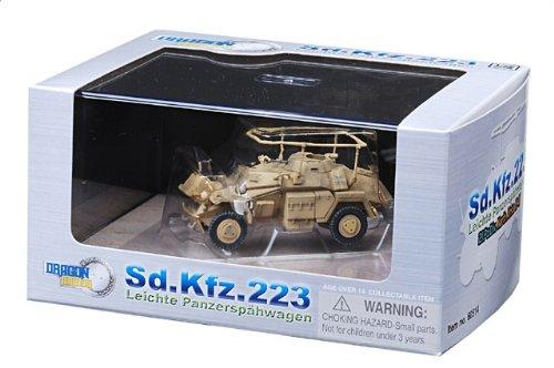 1:72 ドラゴンモデルズ アーマー コレクター シリーズ 60514 Auto Union Sd.Kfz.223 装甲車spahwagen ディスプレイ モデル ドイツ軍 21.PzDiv Nort
