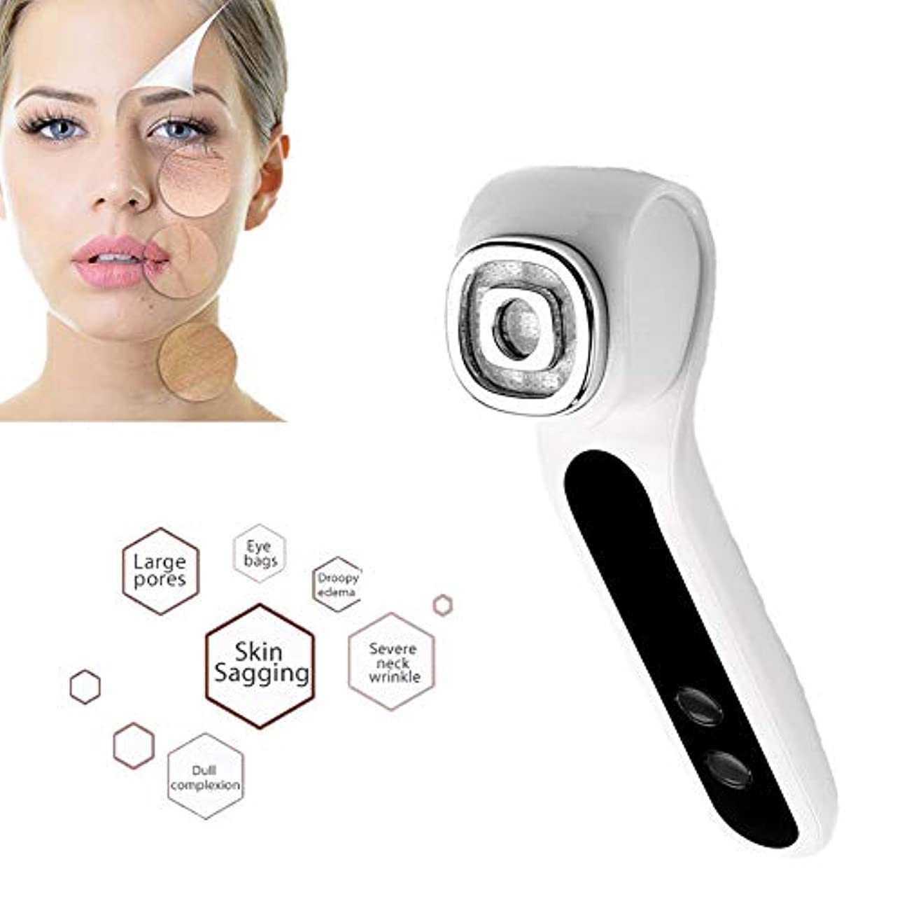 ミュージカル上がる名誉美容化粧品LED光子療法RF + EMSリフティングイオンクレンジング振動肌の整形マッサージ用家庭用