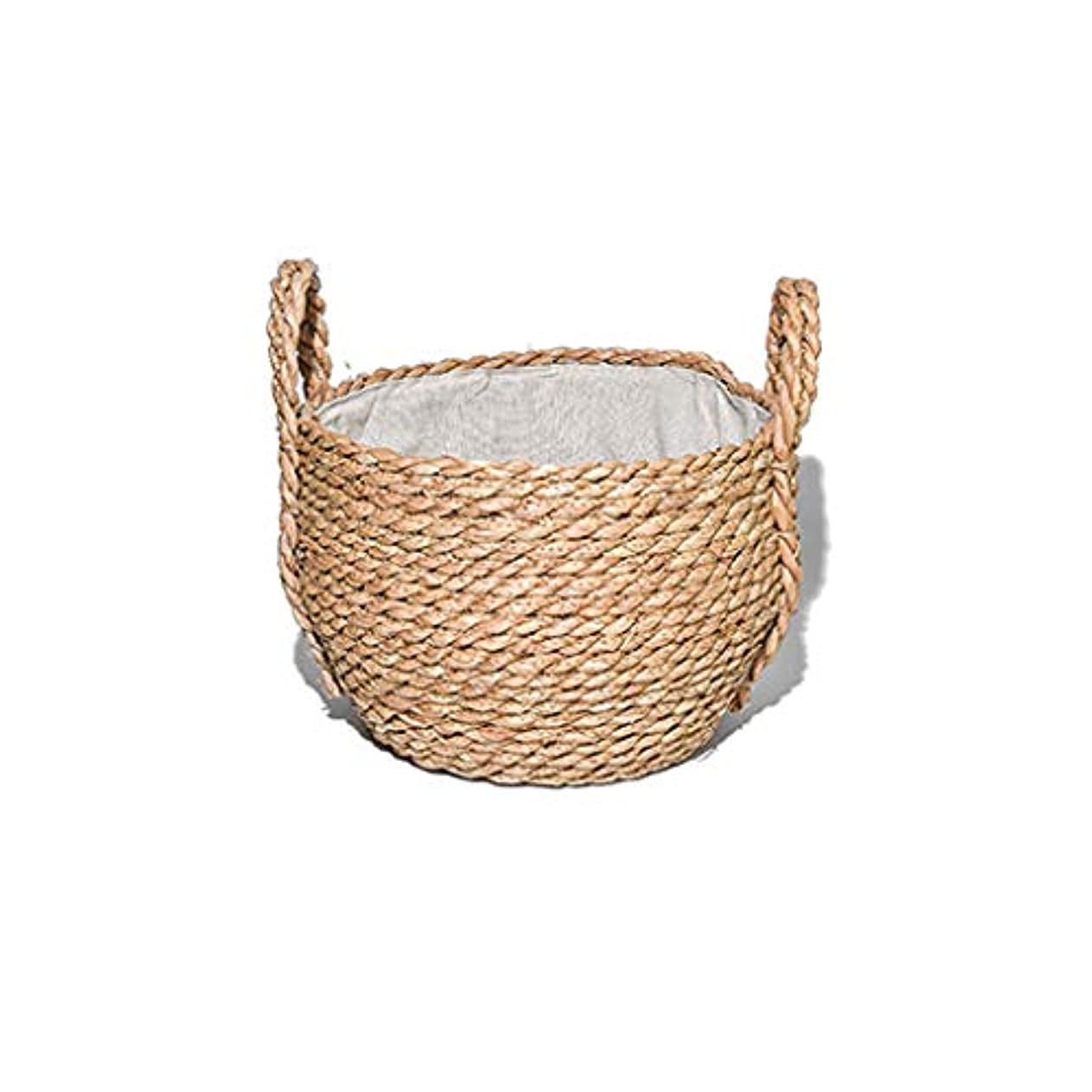 特異性竜巻継続中SMMRB 籐フルーツバスケットコーンロープ織物衣類を邪魔するデスクトップのストレージバスケット、手織り (サイズ さいず : 20cm*28cm)