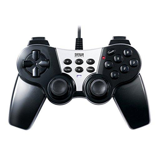 サンワダイレクト USBゲームパッド 16ボタン