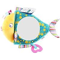 HuaQingPiJu-JP 子供幼児ラブリーフィッシュローリングハンドつかむミラーおもちゃカラフルなセーフティミラーギフト