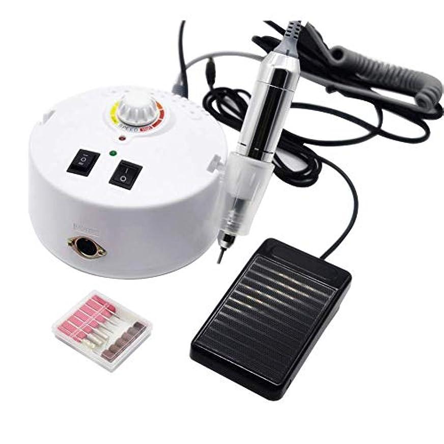 中古私たちの勧告ネイルドリル機電気ネイルファイルアクリルジェルネイルグラインダーツール30000 rpmファッショナブルな電気マニキュアペディキュアアートネイルドリルパウダーポリッシャー