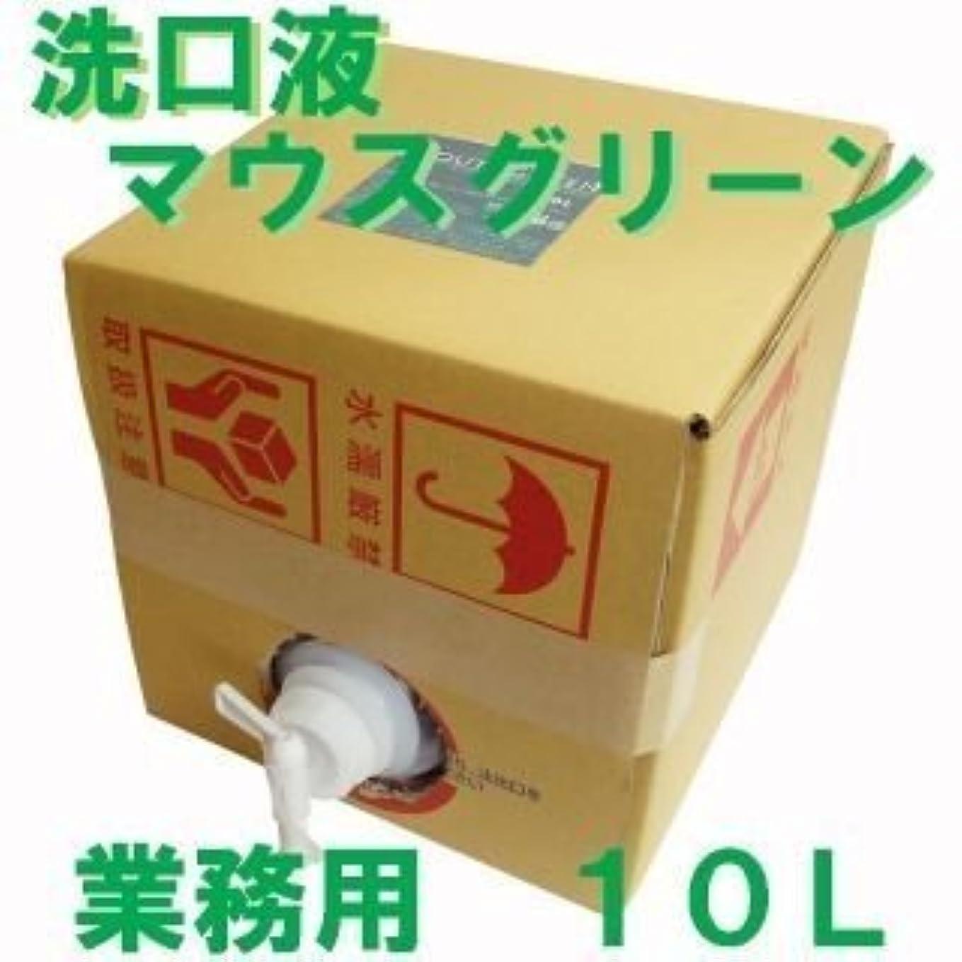 代替資本ウェイター業務用 口腔化粧品 マウスグリーン洗口液 10L