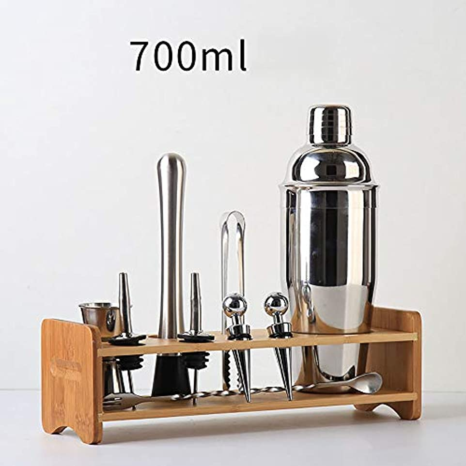 仮定するディレクター海上Shike Cup Cocktail Shaker、ステンレススチールハンドシェイクシェーカー、Tea Shop Xueke Pot Bar Tool Set、Beverage Mix Professional Bartender...