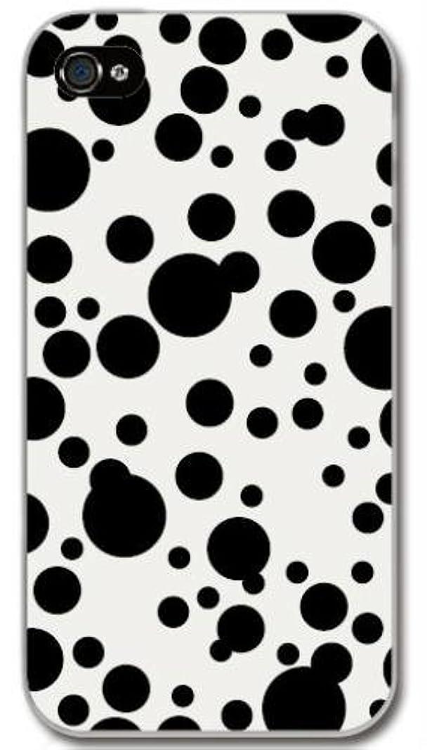 自動蛇行即席【Paiiige】 ドットダルメシアン (クリア)/ for iPhone4S/softbank専用ケース SFIP4S-100-A038