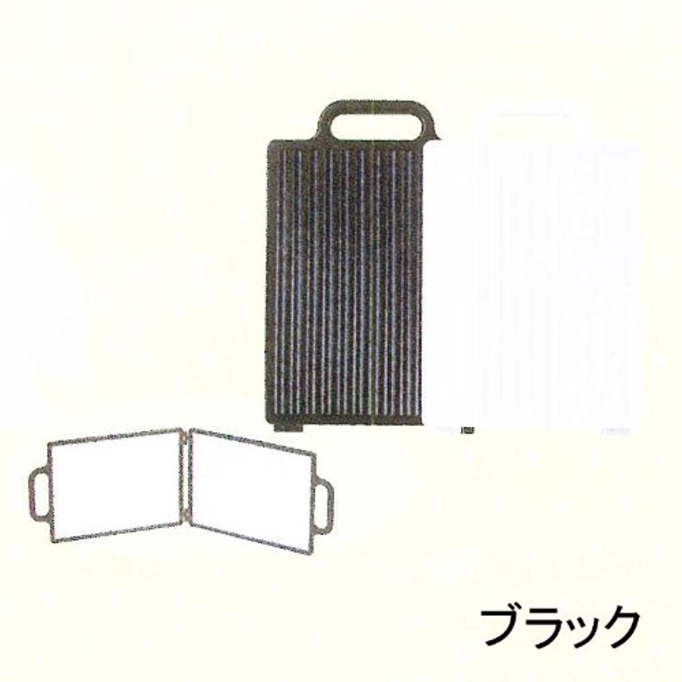 パテ配分不安定なY-3505 角形バックミラー ブラック