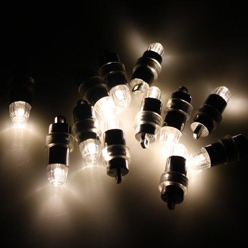 LED 豆電球、PChero led電球、風船に取り付け可能ミニ LEDライト、お祭り 、パーティー、告白、結婚式などのイベントの装飾ライト「48個」「ウォームホワイト」