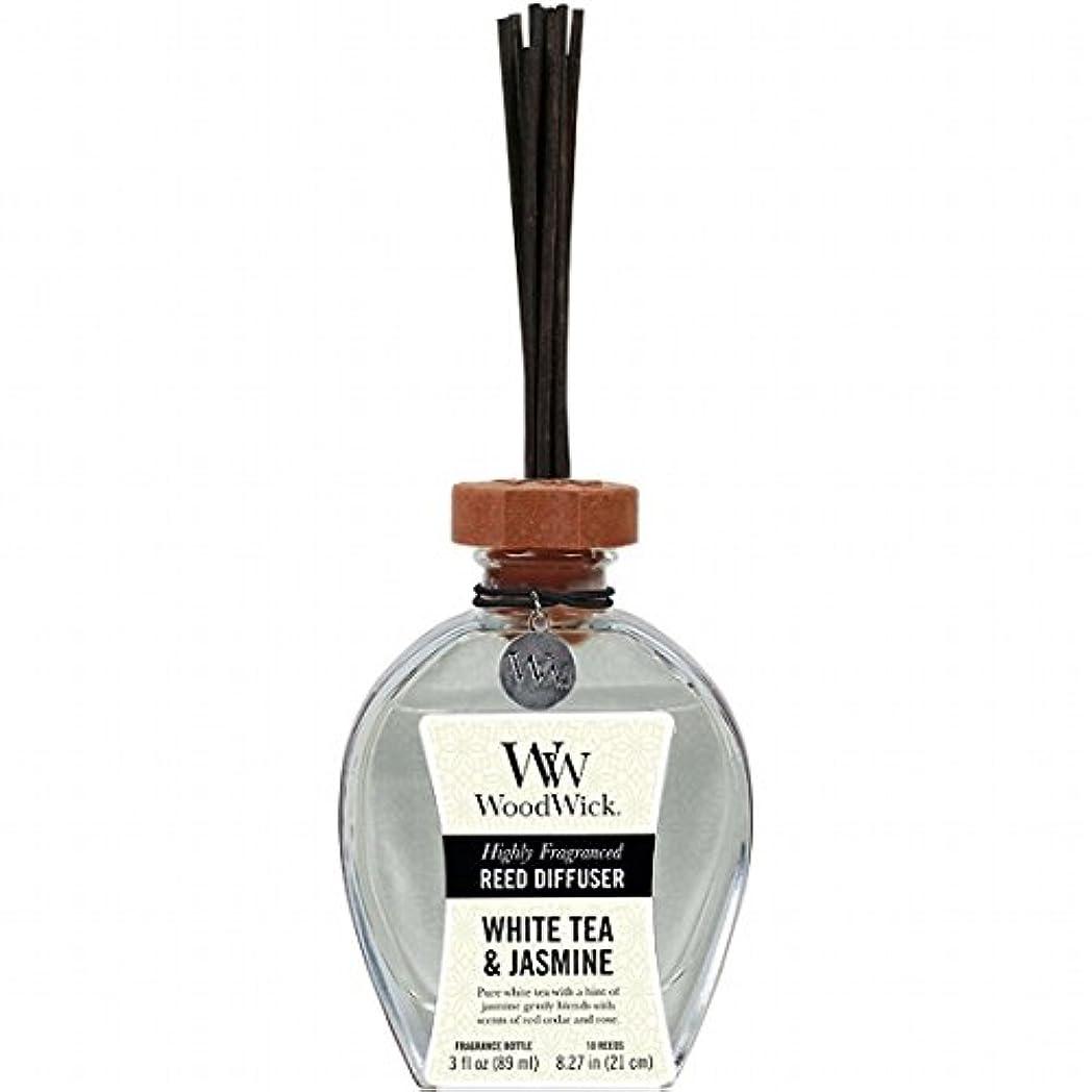 モーテル気をつけて血色の良いウッドウィック( WoodWick ) リードディフューザーS 「 ホワイトティー&ジャスミン 」