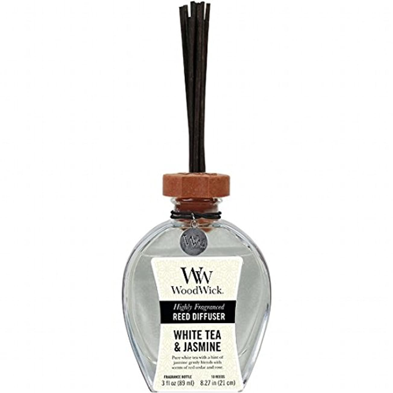 休憩する溶けるトレースウッドウィック( WoodWick ) リードディフューザーS 「 ホワイトティー&ジャスミン 」