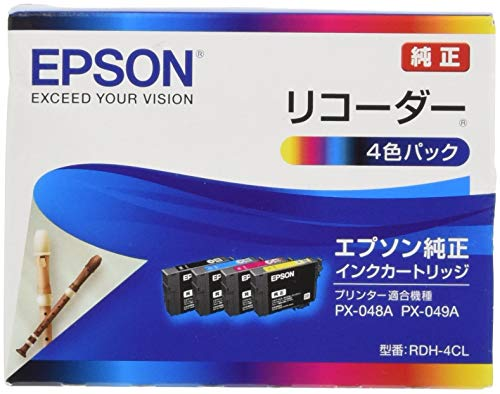 セイコーエプソン セイコーエプソン インクジェットカートリッジ RDH-4CL 1パック 4色 リコーダーシリーズ