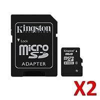 Kingston SDC4/8GB クラス4 8GB micro SD micro-SDHCカード x 2。