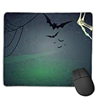 Cheng xiao Mouse Pad Cool Bats Horrible Illustration Rectangle Rubber Mousepad Non-toxic Print Gaming Mouse Pad with Black Lock Edge,9.8 * 11.8 in,ベーシック マウスパッド ゲーム用 標準サイズ