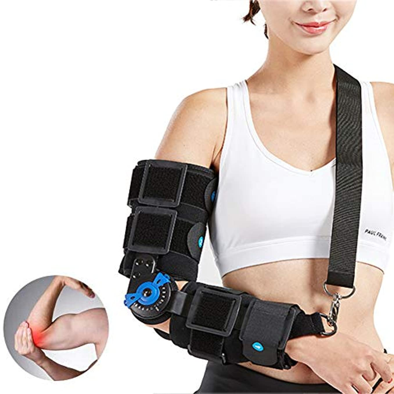 尊厳汚染する誓う調節可能なアームスリングは手術前後の骨折用アームリフト、傷害回復、ワンサイズ - ユニセックス