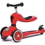 スクーター子供のツーインワン子供三輪車調節可能な子供の誕生日プレゼント ( Color : Red )