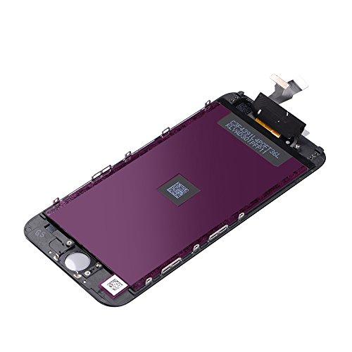Goldwangwang iPhone修理用フロントパネル(フロントガラスデジタイザー)タッチパネル 液晶パネル(LCD)修理交換工具キット付き (にのみ適用されます iPhone6 黒)
