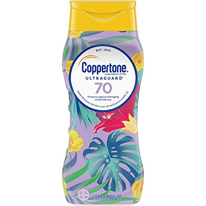 レギュラー説明的知覚Coppertone ウルトラ警備隊日焼け止めローション広域スペクトルSPF 70、8液量オンス