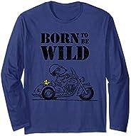 US Peanuts Snoopy Sketch Born Wild 01 長袖Tシャツ