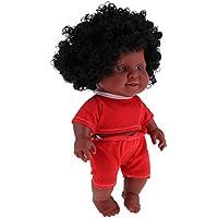 Baoblaze 26cm リアル 赤ちゃん人形 ビニール製 アフリカ人形ドールモデル 抱き人形 2色選ぶ - #1