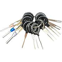 Liebeye 端子除去ツール 車の電気配線圧着コネクタピン抜き取りキット 11個/セット