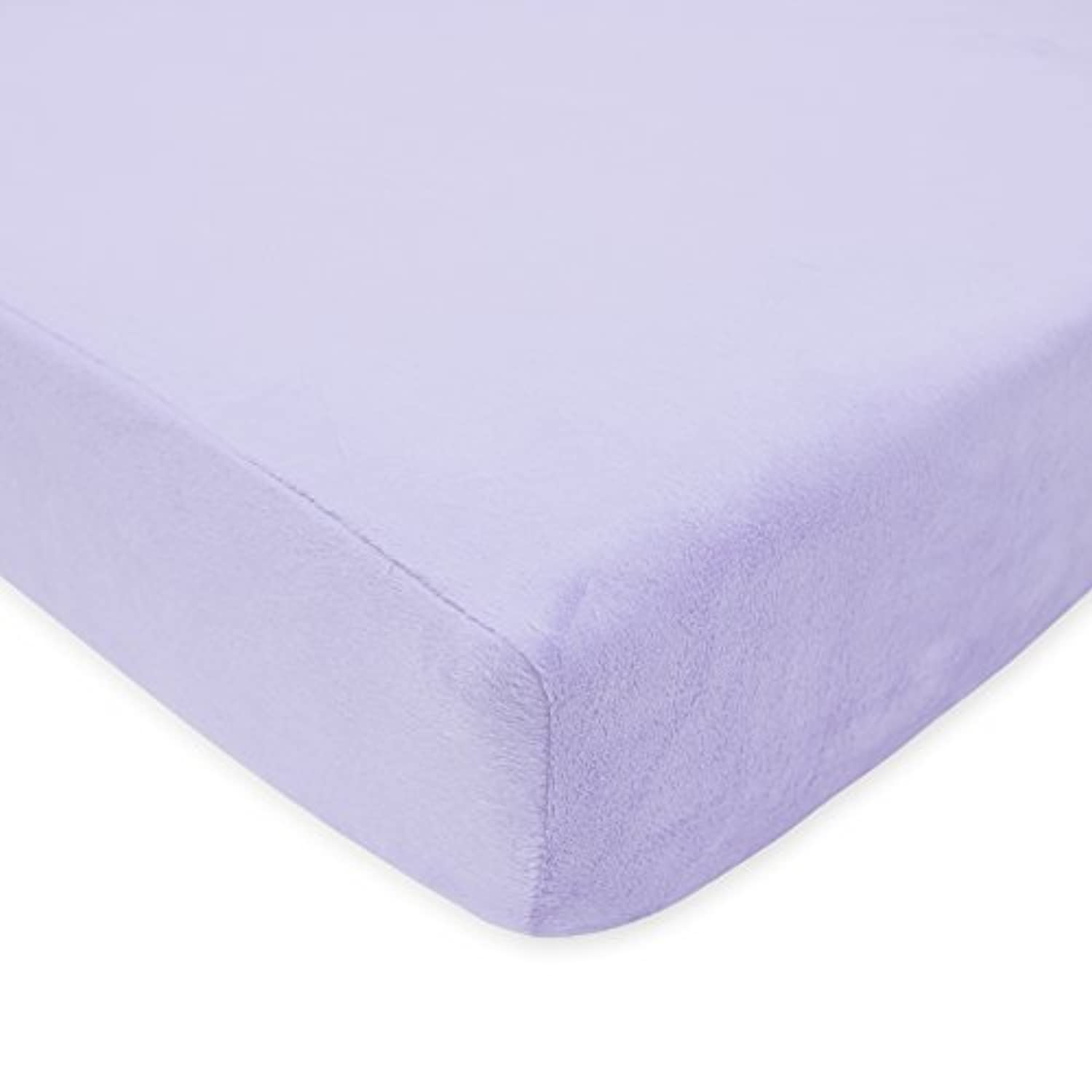 American Baby Company Heavenly Soft Chenille Fitted Crib Sheet, Lavender by American Baby Company