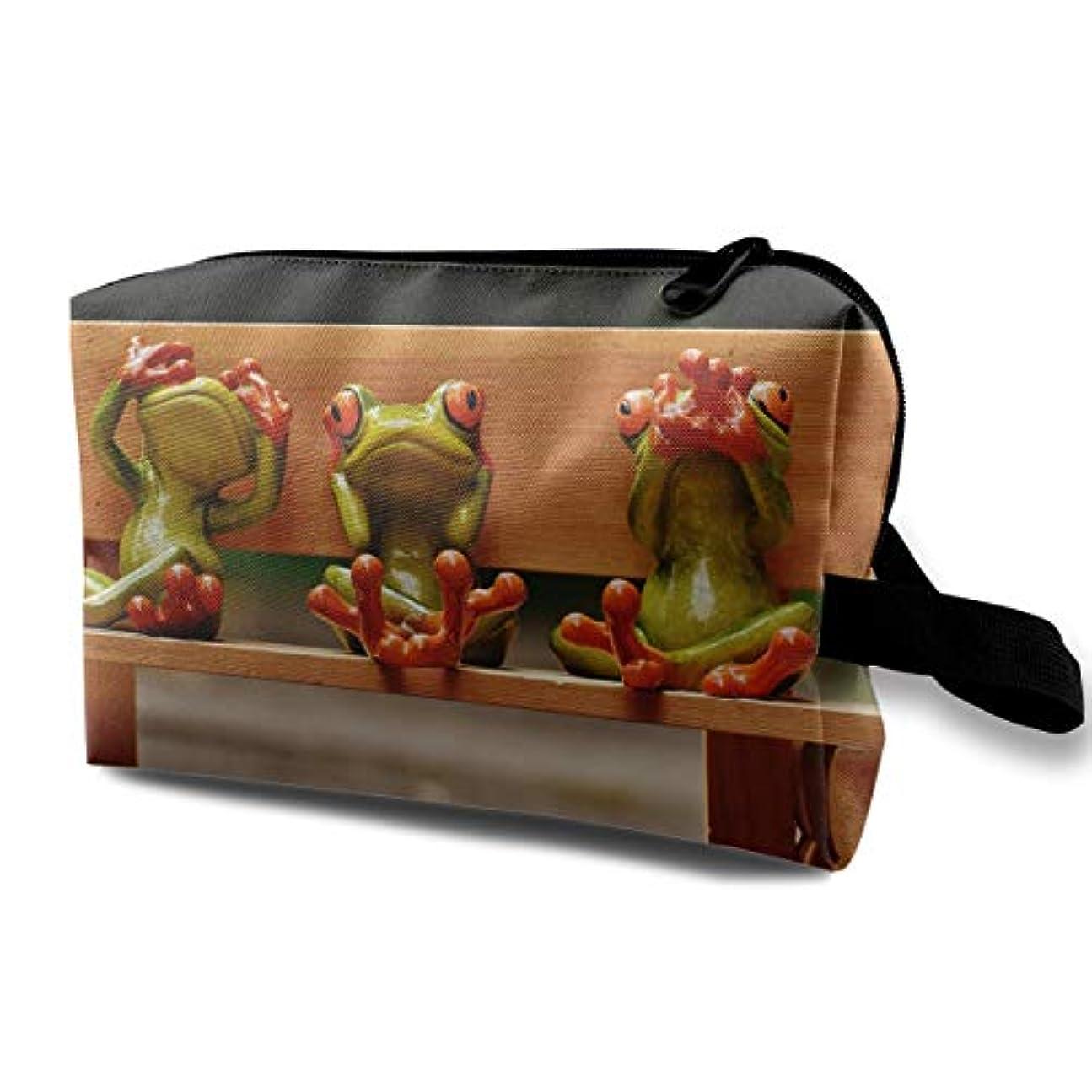 レプリカコイル自転車レディース 化粧ポーチ 旅行収納ポーチ トイレタリーバッグ 赤い目の蛙 コスメ メイクポーチ ハンドバッグ 大容量 化粧品 鍵 小物入れ 軽量