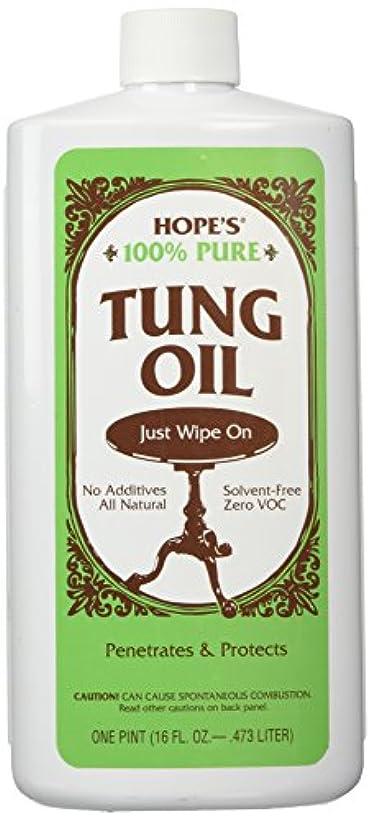 マーキー山積みの狭い100% Tung Oil 16 oz - Pt. by Hope