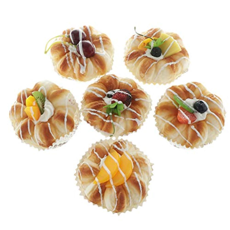 権限泥だらけおもしろい6個入 人工の食べ物 ミニパン ケーキモデル ごっこ遊び おもちゃ ゲーム 家の装飾