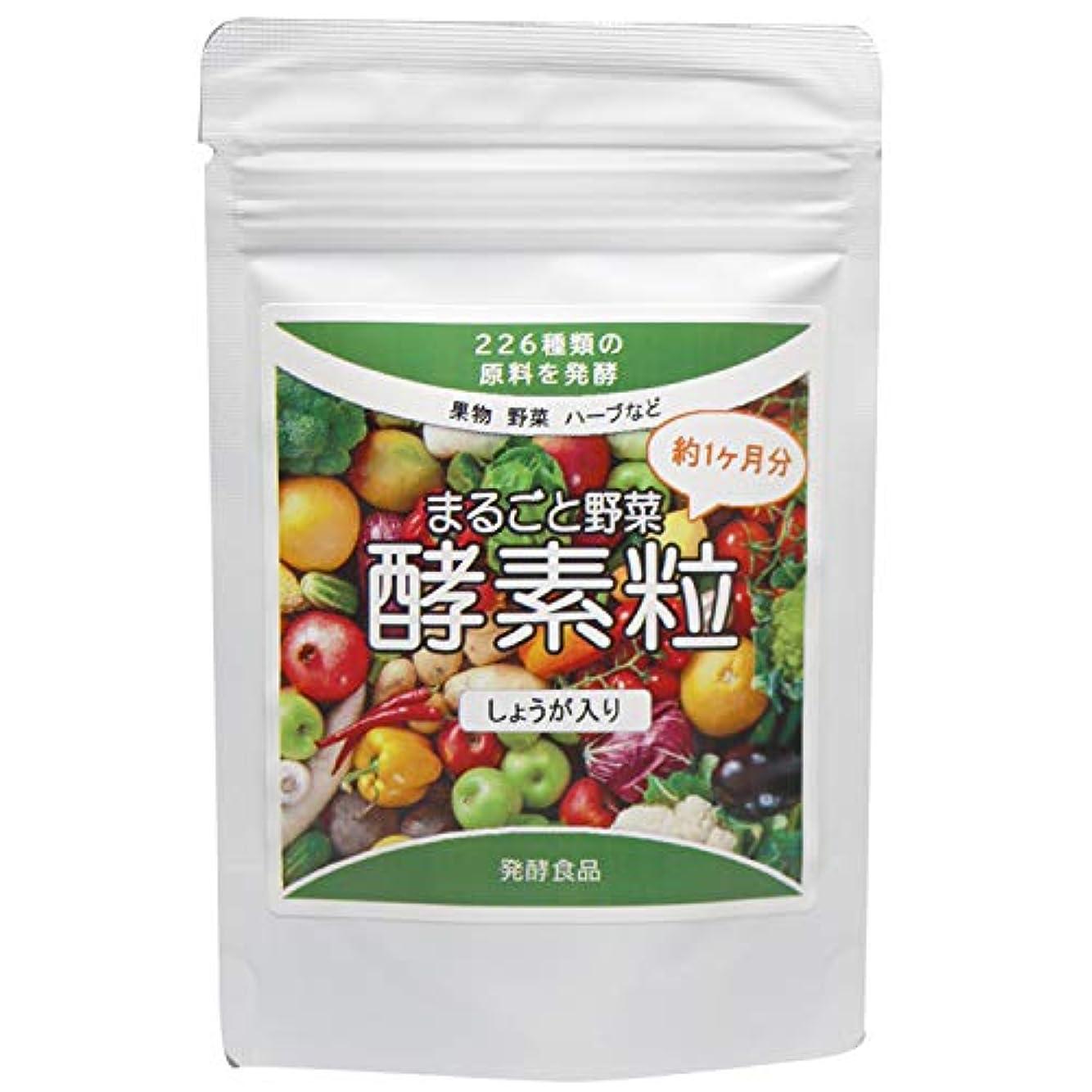 ポジティブあいにく製造まるごと野菜酵素粒 226種類の野菜発酵(しょうが入り) 約4ヶ月分 (440mg×120粒)