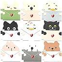 18枚 可愛い メッセージ ミニ カード 動物 アニマル 9種セット メッセージを抱える メッセージカード 封筒付 バースデー グリーティング クリスマス ギフト カード